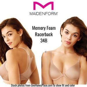 Maidenform MemFoam Racerback Underwire T-shirt Bra